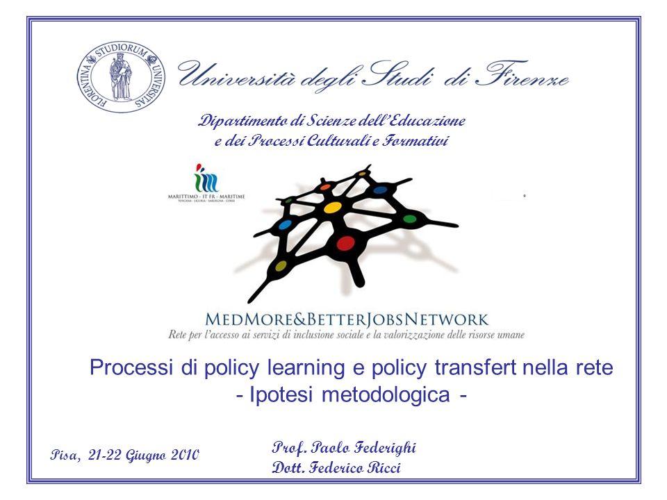 Dipartimento di Scienze dellEducazione e dei Processi Culturali e Formativi Prof.