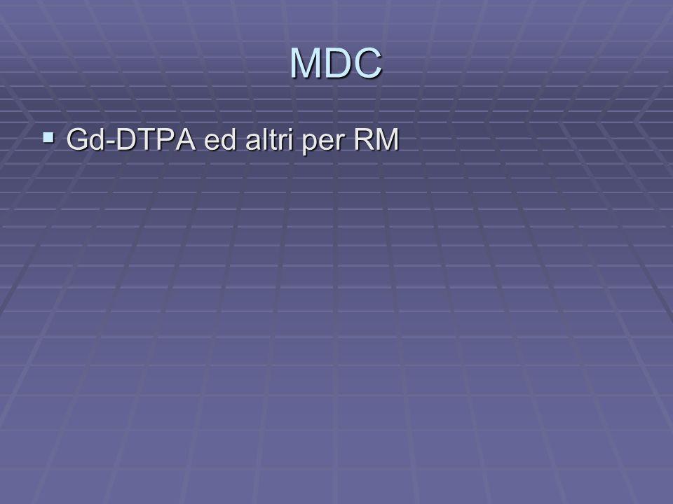 MDC Gd-DTPA ed altri per RM Gd-DTPA ed altri per RM