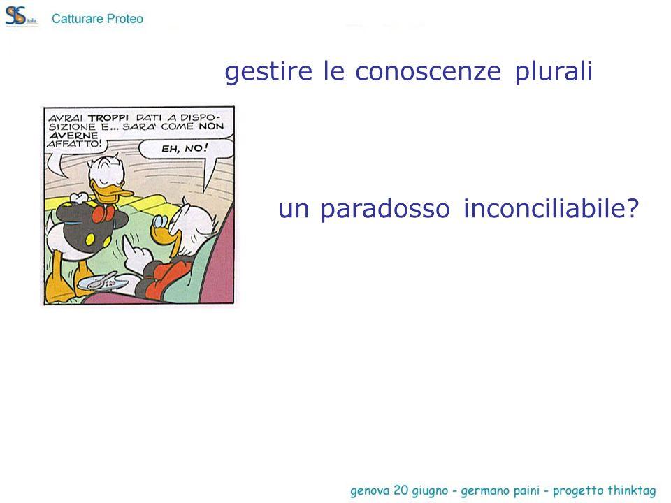 un paradosso inconciliabile gestire le conoscenze plurali