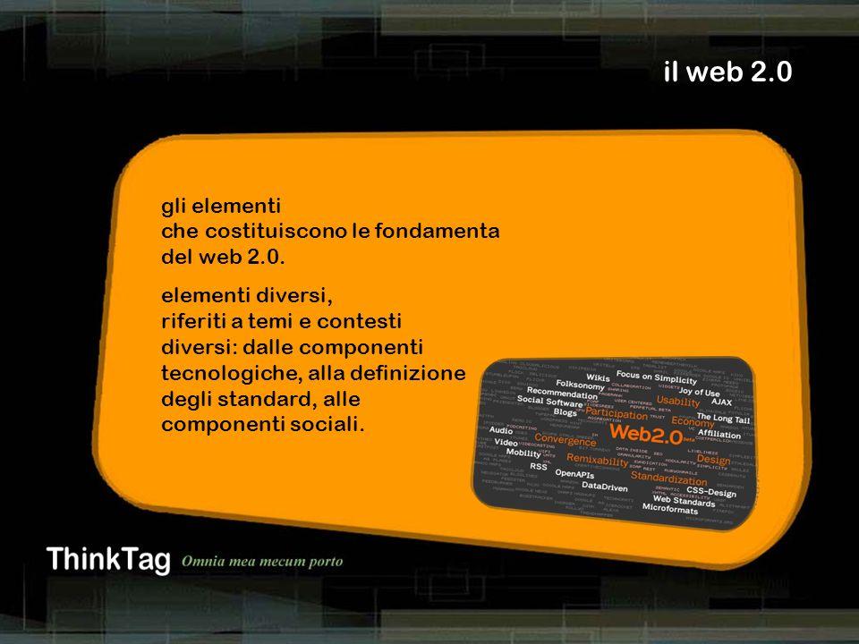 derrick de kerckhove il web 2.0 gli elementi che costituiscono le fondamenta del web 2.0. elementi diversi, riferiti a temi e contesti diversi: dalle