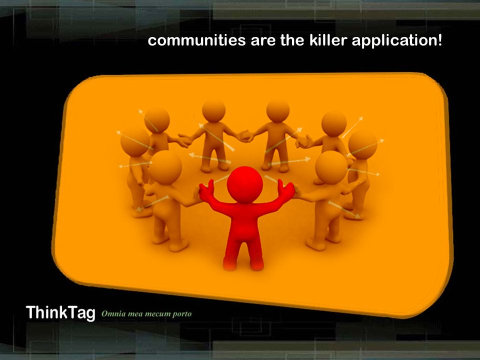 derrick de kerckhove communities are the killer application!