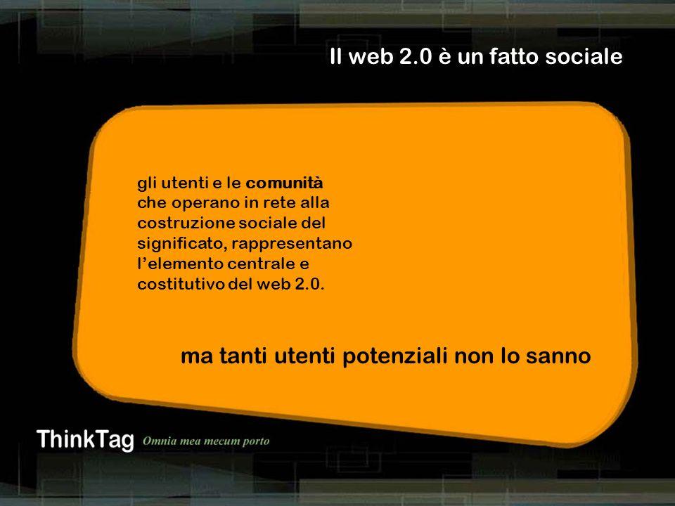 derrick de kerckhove Il web 2.0 è un fatto sociale gli utenti e le comunità che operano in rete alla costruzione sociale del significato, rappresentan