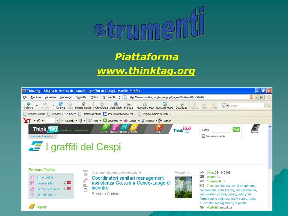 Piattaforma www.thinktag.org