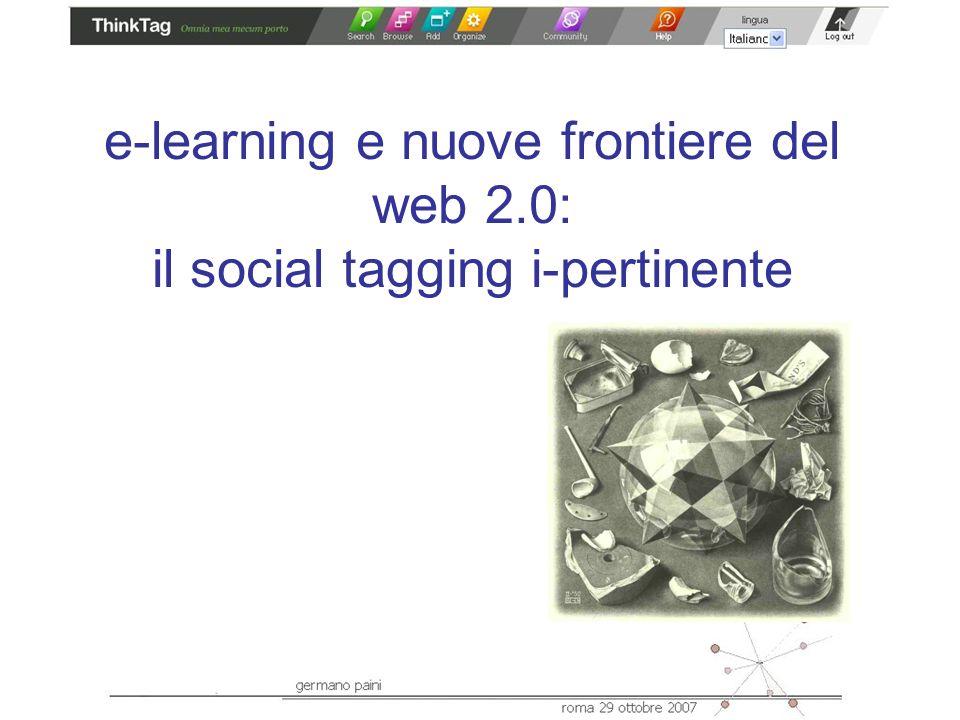 e-learning e nuove frontiere del web 2.0: il social tagging i-pertinente
