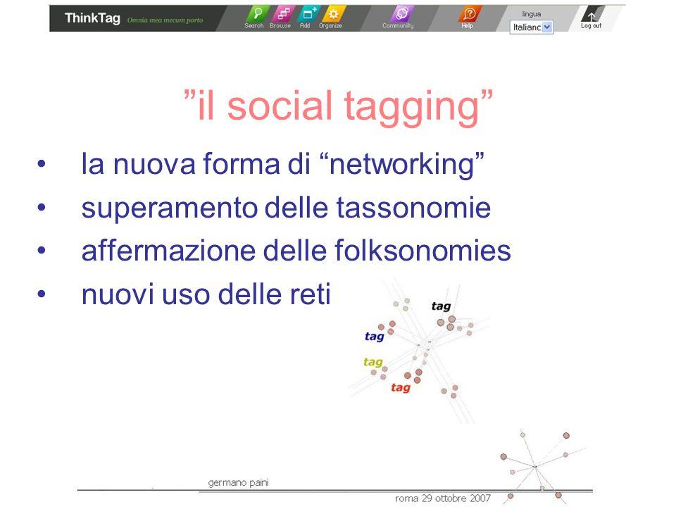 il social tagging la nuova forma di networking superamento delle tassonomie affermazione delle folksonomies nuovi uso delle reti