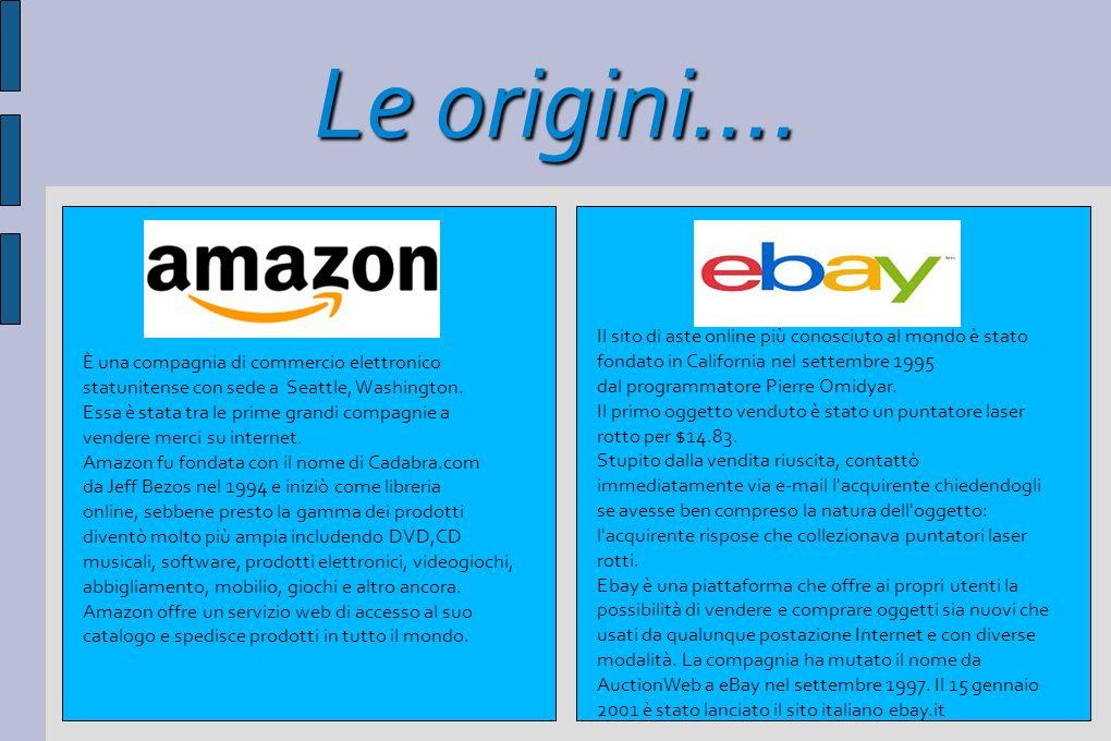 Le origini.... È una compagnia di commercio elettronico statunitense con sede a Seattle, Washington. Essa è stata tra le prime grandi compagnie a vend