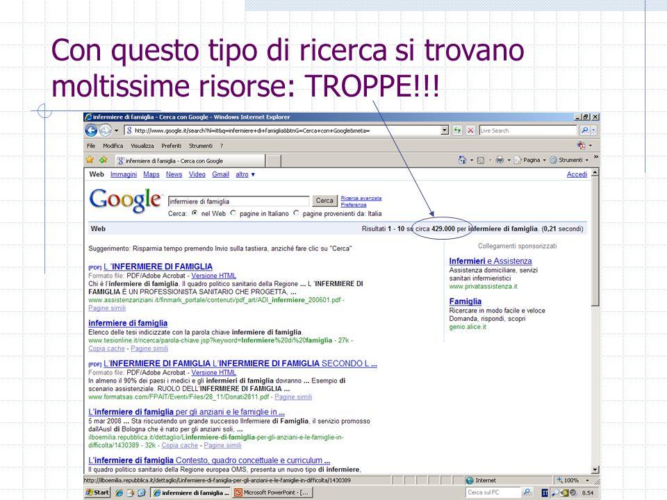 Con questo tipo di ricerca si trovano moltissime risorse: TROPPE!!!
