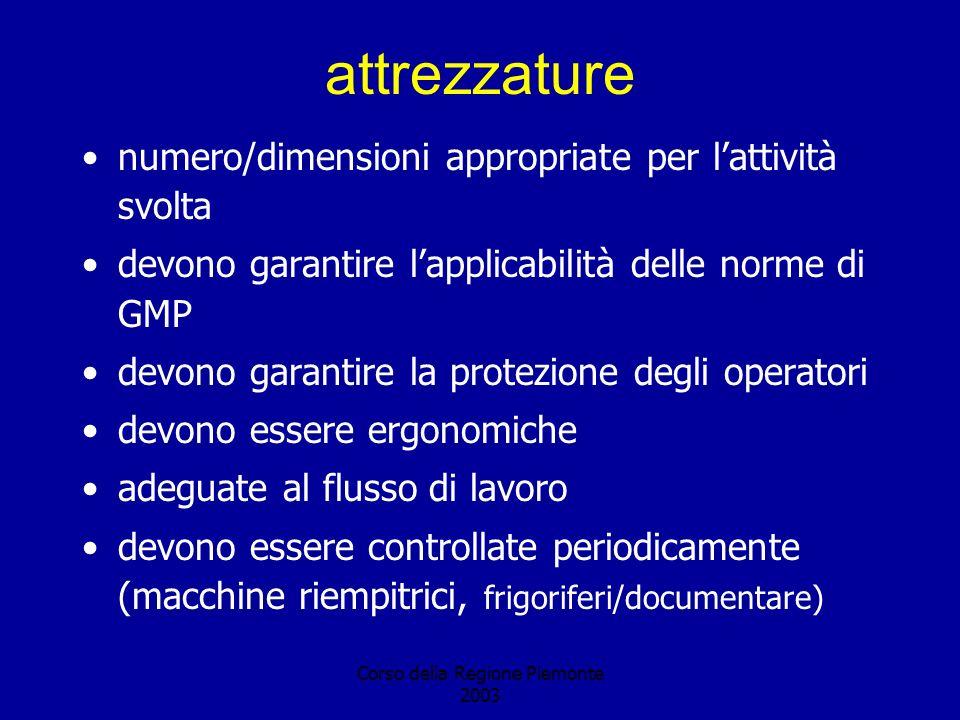 Corso della Regione Piemonte 2003 CABINA DI SICUREZZA BIOLOGICA