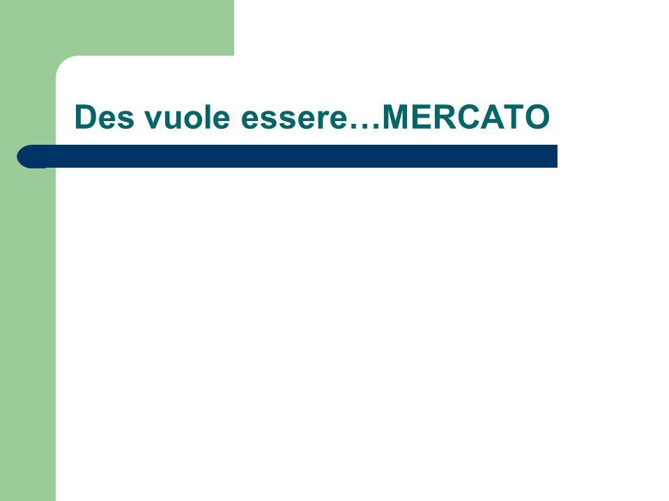 Des vuole essere…MERCATO