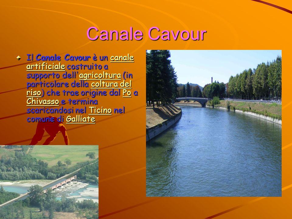 Canale Cavour Il Canale Cavour è un canale artificiale costruito a supporto dell'agricoltura (in particolare della coltura del riso) che trae origine