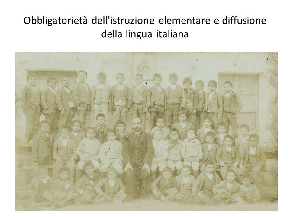 Obbligatorietà dellistruzione elementare e diffusione della lingua italiana