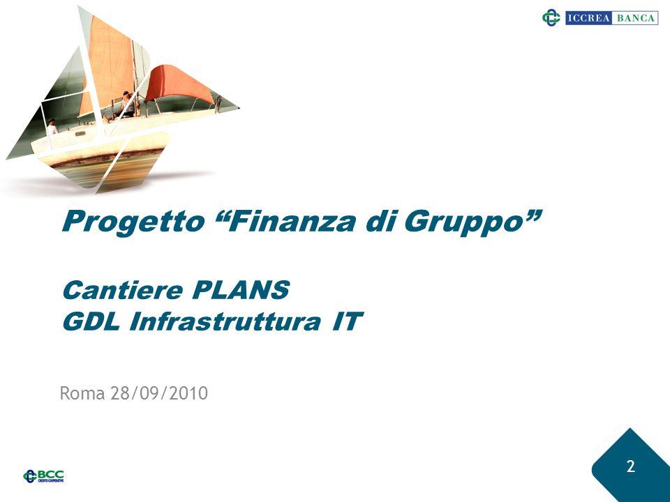 13 Staging area Plans - Cruscotto 1.Contesto iniziative PLANS 2.Razionalizzazio- ne infrastrutture 3.