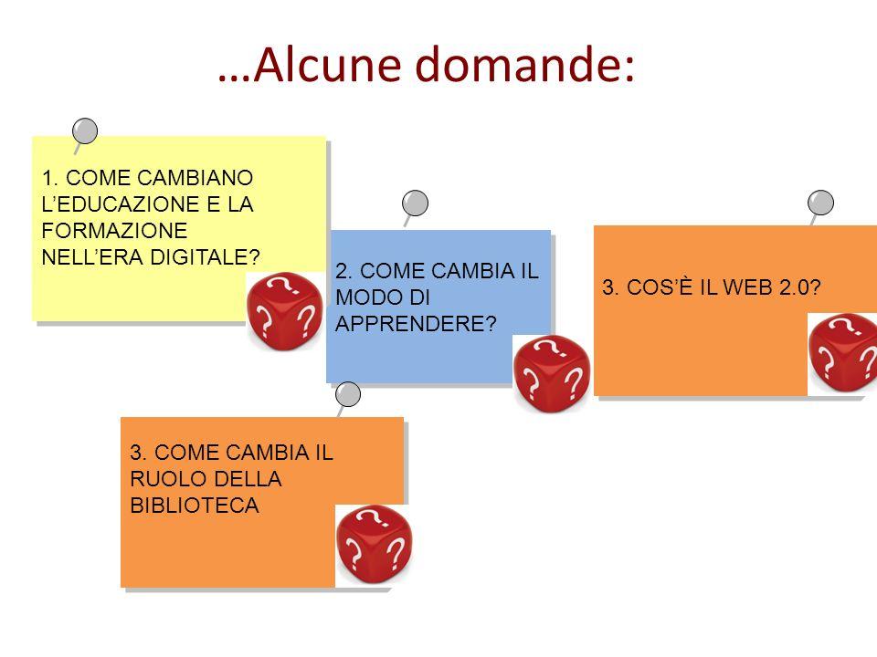 2. COME CAMBIA IL MODO DI APPRENDERE. 3. COSÈ IL WEB 2.0.