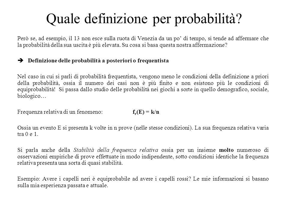 La distribuzione normale La distribuzione normale o distribuzione Gaussiana è la distribuzione di probabilità più importante.