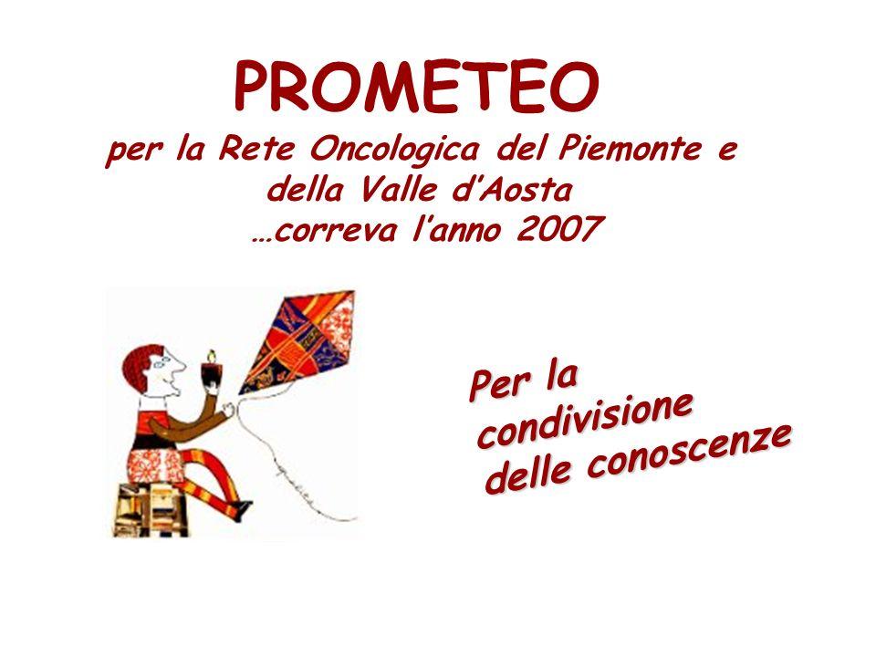 PROMETEO per la Rete Oncologica del Piemonte e della Valle dAosta …correva lanno 2007 Per la condivisione delle conoscenze