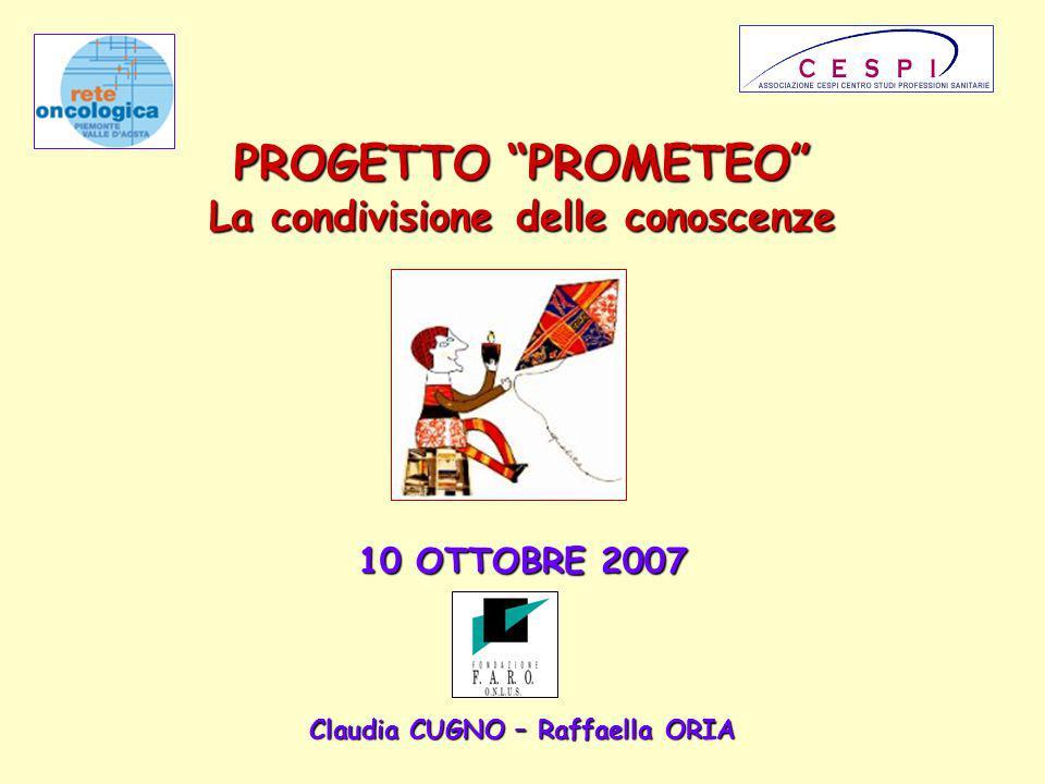 PROGETTO PROMETEO La condivisione delle conoscenze 10 OTTOBRE 2007 Claudia CUGNO – Raffaella ORIA