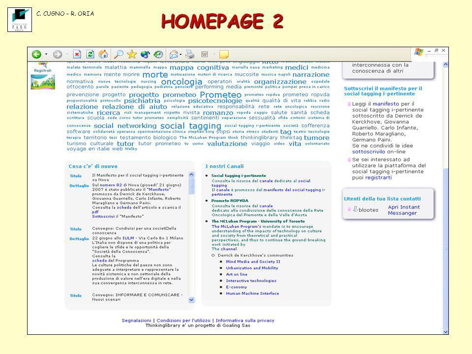 HOMEPAGE 2 C. CUGNO – R. ORIA