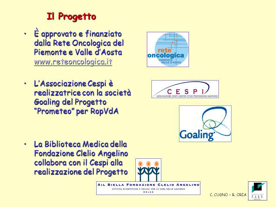 Il Progetto È approvato e finanziato dalla Rete Oncologica del Piemonte e Valle dAosta www.reteoncologica.itÈ approvato e finanziato dalla Rete Oncolo