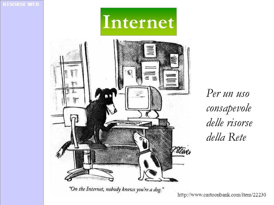 RISORSE WEB Internet Per un uso consapevole delle risorse della Rete http://www.cartoonbank.com/item/22230