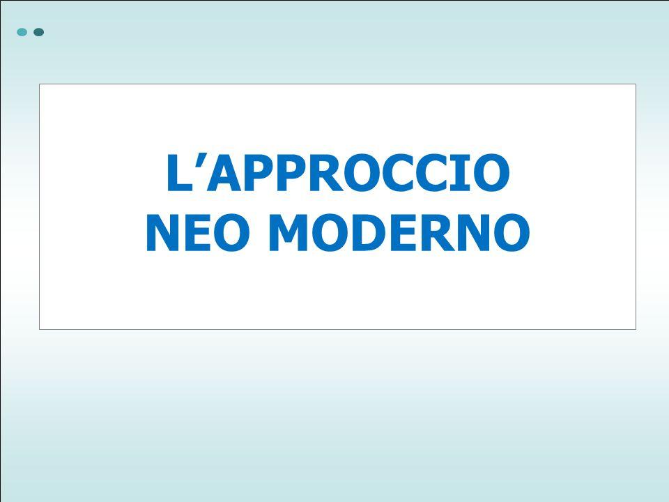 LAPPROCCIO NEO MODERNO
