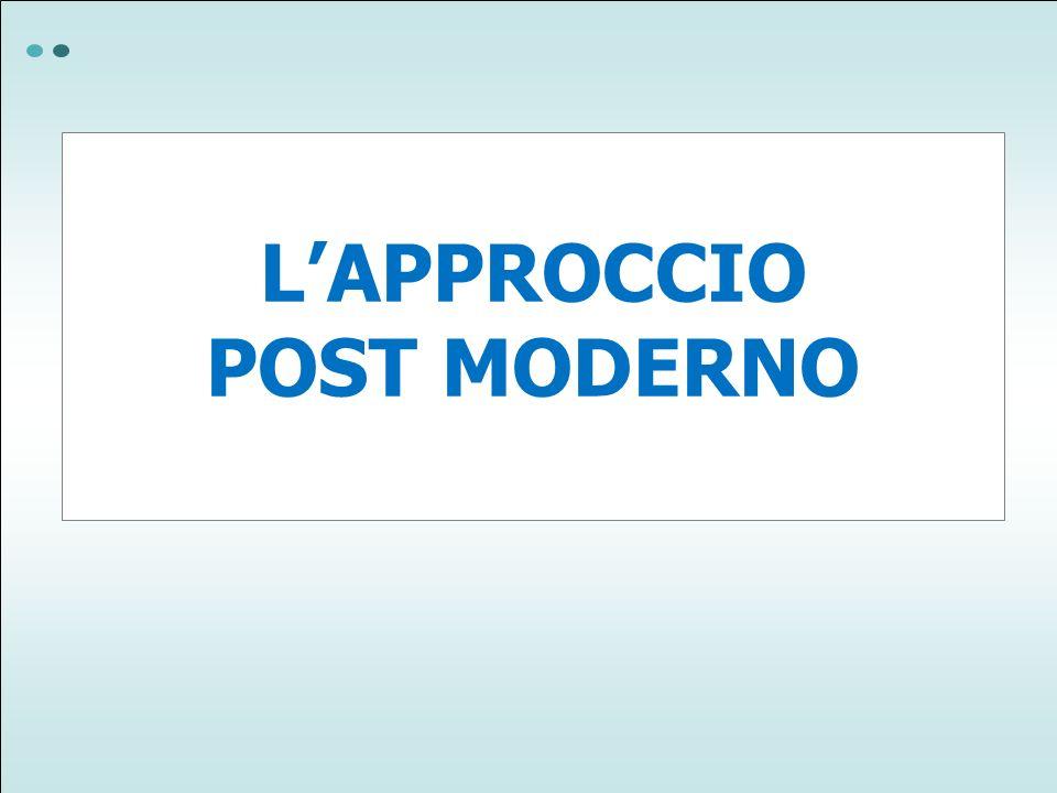 LAPPROCCIO POST MODERNO
