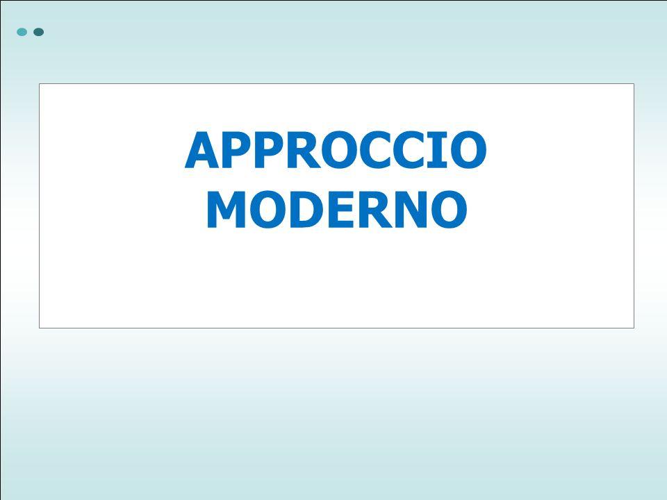 APPROCCIO MODERNO