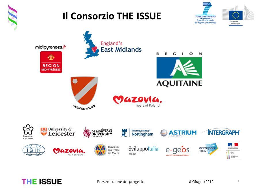 Il Consorzio THE ISSUE 7 8 Giugno 2012Presentazione del progetto