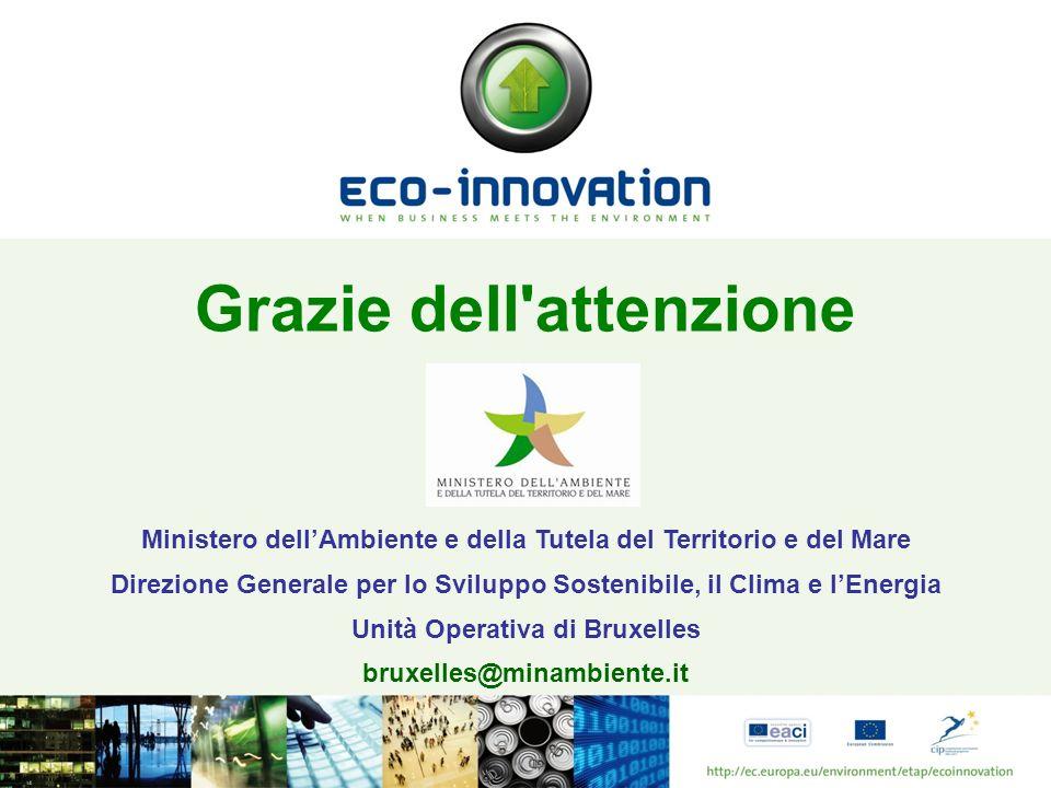 Grazie dell'attenzione Ministero dellAmbiente e della Tutela del Territorio e del Mare Direzione Generale per lo Sviluppo Sostenibile, il Clima e lEne