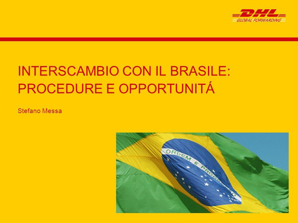 Stefano Messa INTERSCAMBIO CON IL BRASILE: PROCEDURE E OPPORTUNITÁ