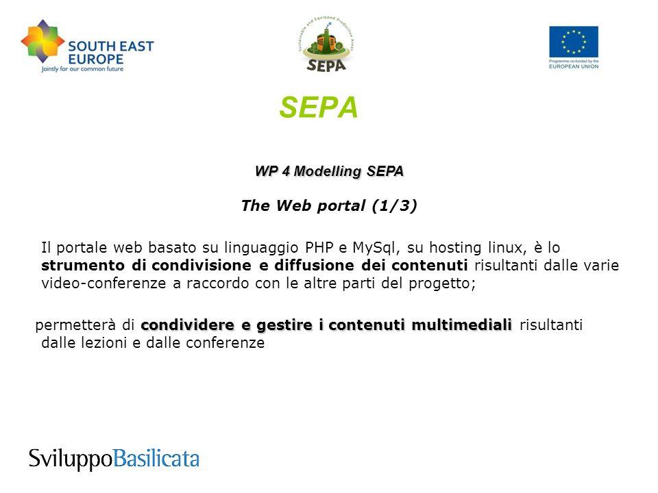 SEPA WP 4 Modelling SEPA Agenda Prossimi Incontri Regionali con gli stakeholder n.