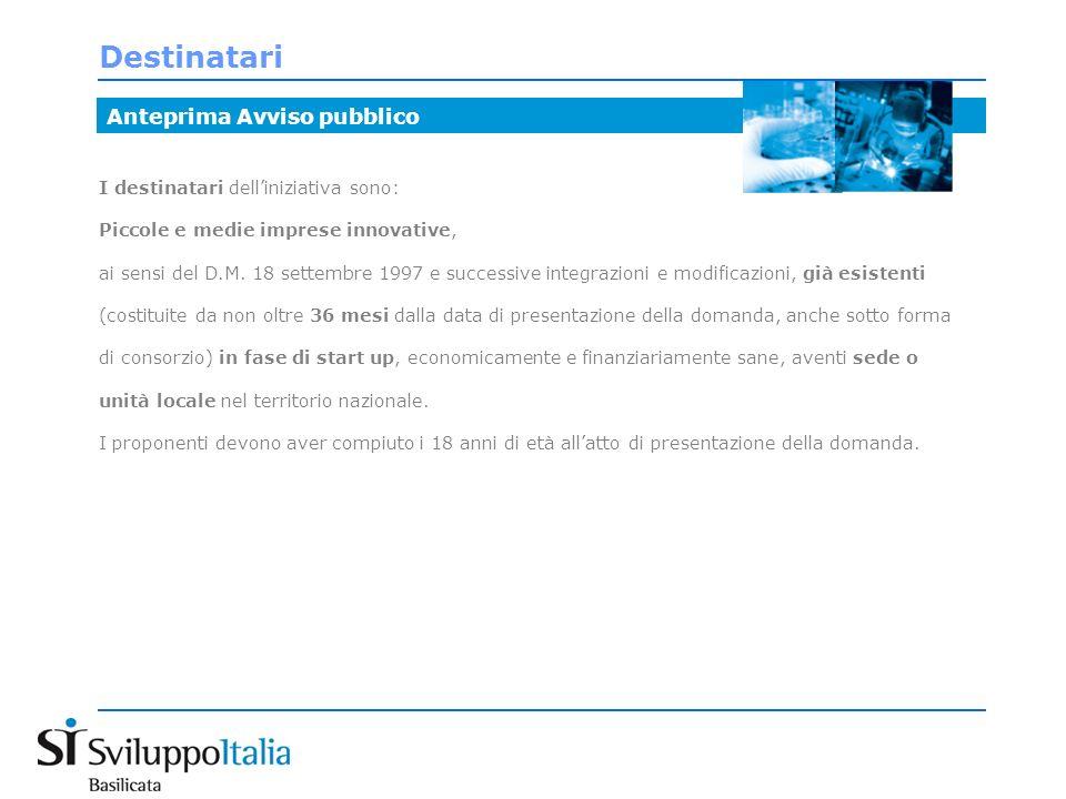 Spazi offerti: Laboratori produttivi Anteprima Avviso pubblico Laboratori produttivi: n.