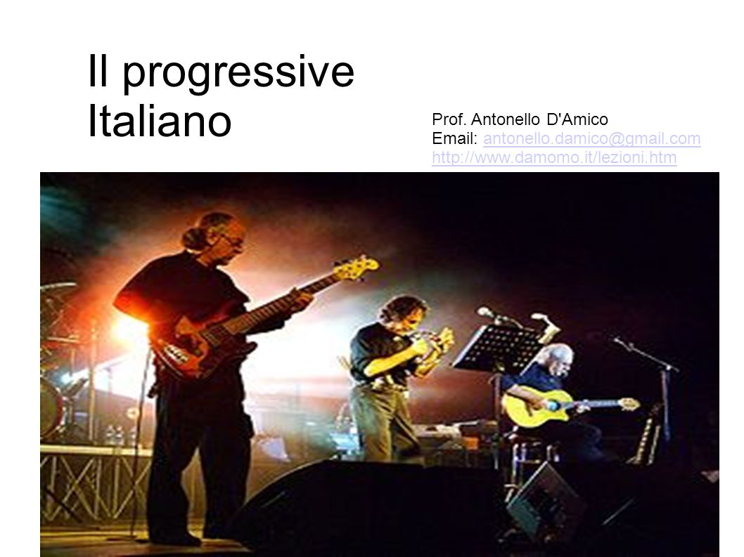 Il progressive Italiano Prof.