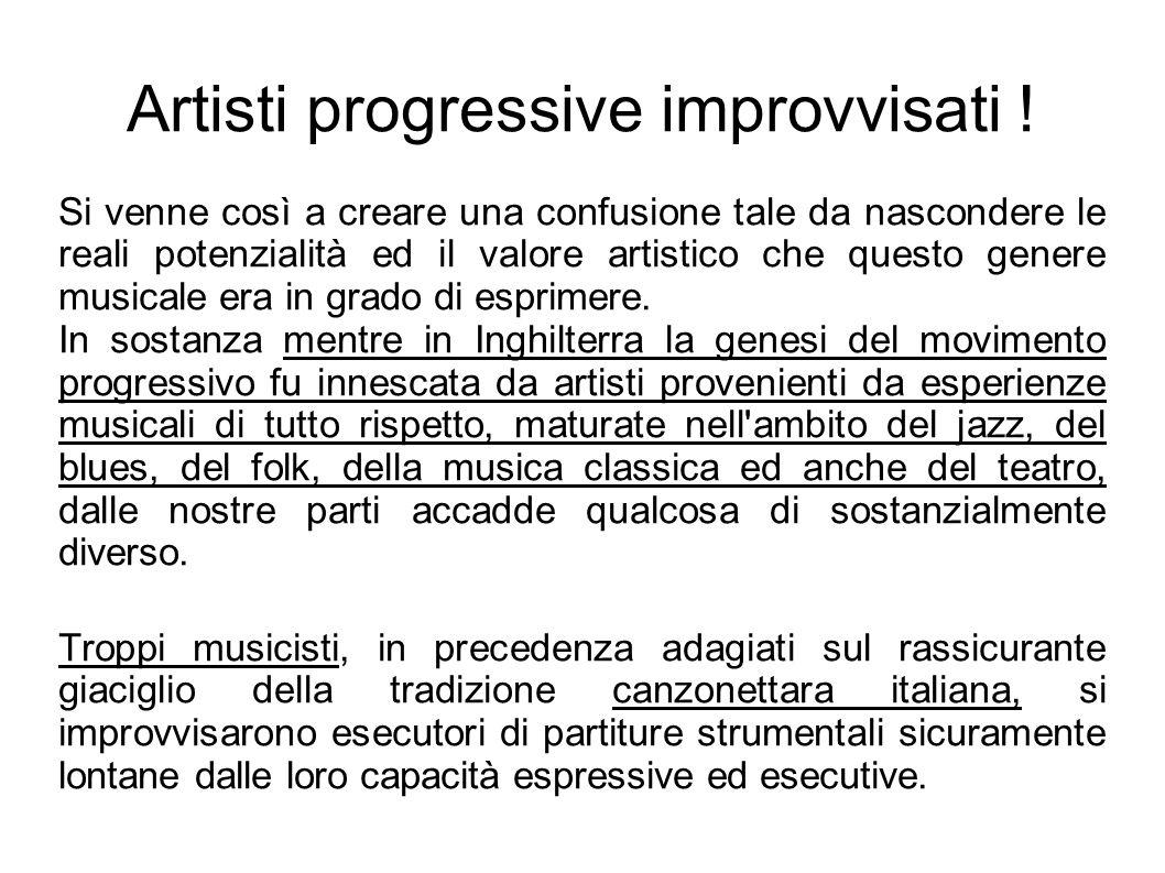 Artisti progressive improvvisati .