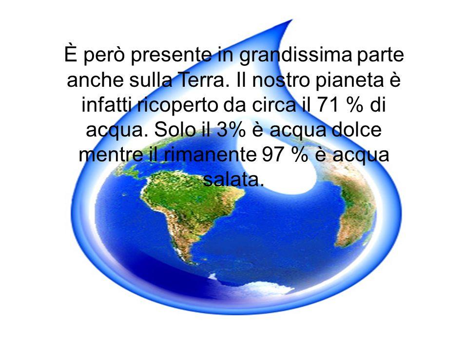 È però presente in grandissima parte anche sulla Terra.