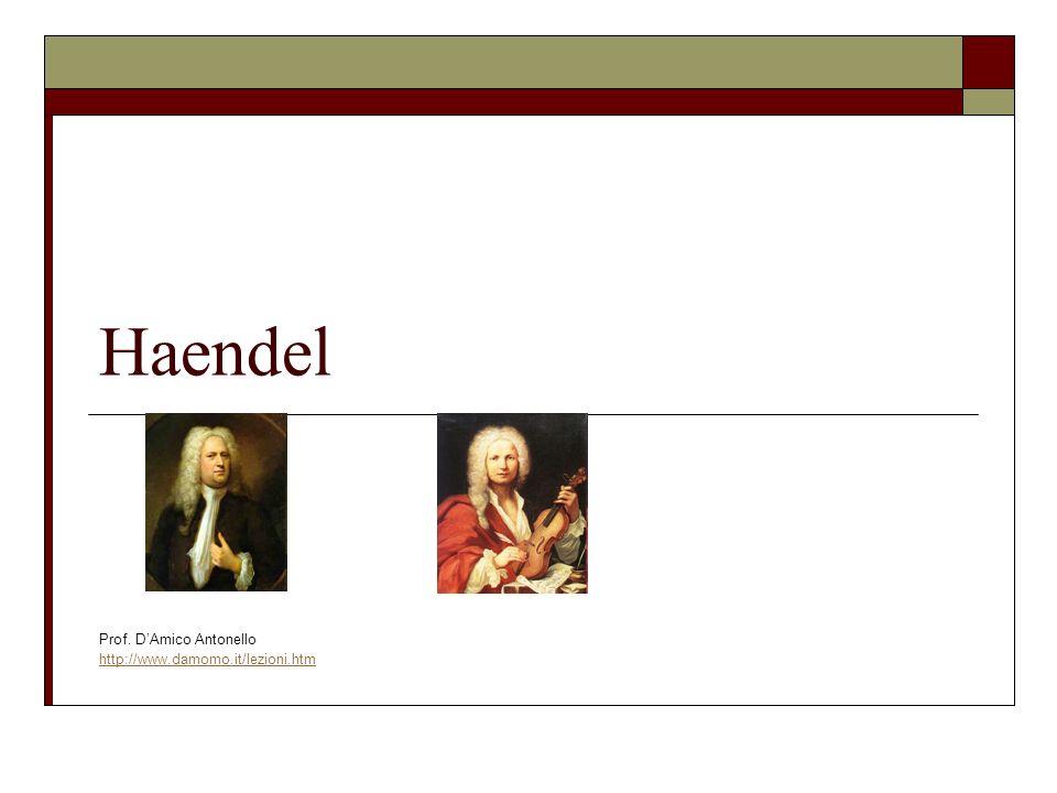 Georg Friedrich Händel Georg Friedrich Händel (Halle, 23 febbraio 1685 – Londra, 14 aprile 1759) è stato un compositore tedesco naturalizzato inglese nel 1727, considerato uno dei più grandi musicisti del Barocco.Halle23 febbraio1685Londra14 aprile 1759compositoretedesconaturalizzatoinglese1727Barocco Influenzato dai grandi compositori d età barocca, in particolare da quelli della scuola italiana e dall inglese Henry Purcell, i suoi lavori ebbero un influsso decisivo su tutti i contemporanei e fra i compositori delle generazioni successive, primi fra tutti i maestri del Classicismo viennese, Haydn, Mozart e Beethovenetà baroccaHenry PurcellClassicismo viennese HaydnMozartBeethoven La tendenza prevalente in Italia oggi è quella di scrivere e pronunciare il suo nome alla tedesca (Georg Friedrich Händel), sebbene il compositore negli ultimi quaranta anni della sua vita si sia sempre firmato secondo l uso della lingua inglese George Frideric Handel.