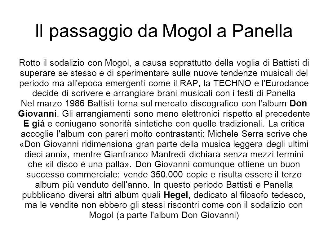 Il passaggio da Mogol a Panella Rotto il sodalizio con Mogol, a causa soprattutto della voglia di Battisti di superare se stesso e di sperimentare sul