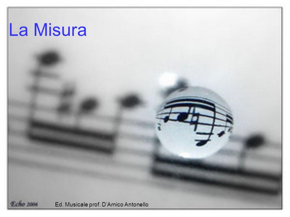 La Misura Musicale In musica, la misura o battuta è l insieme di valori compresi da due linee verticali poste sul pentagramma chiamate stanghette.musica La misura può essere di due tipi: semplice o composta; inoltre può essere di quattro forme: binaria, ternaria, quaternaria e mista.