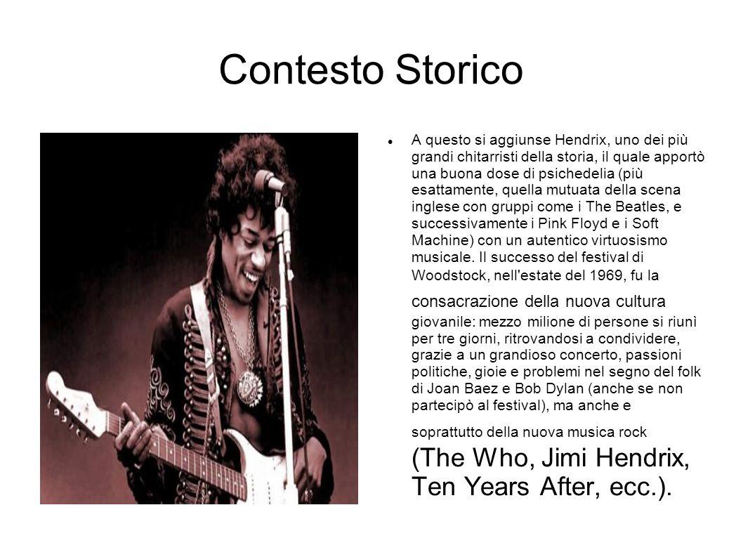 Hendrix il ciclone Hendrix è un ciclone che attraversa la scena del rock, proprio perché il rock è il genere musicale dove più che in ogni altro contano il suono e l immagine, la forma, quindi, oltre che i contenuti, come si evidenzierà sempre di più col passare degli anni e con l avvento dell elettronica e l evoluzione dell iconografia rock.