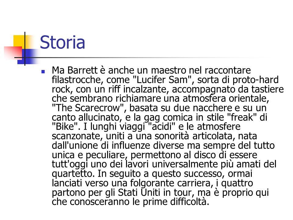 Storia Ma Barrett è anche un maestro nel raccontare filastrocche, come