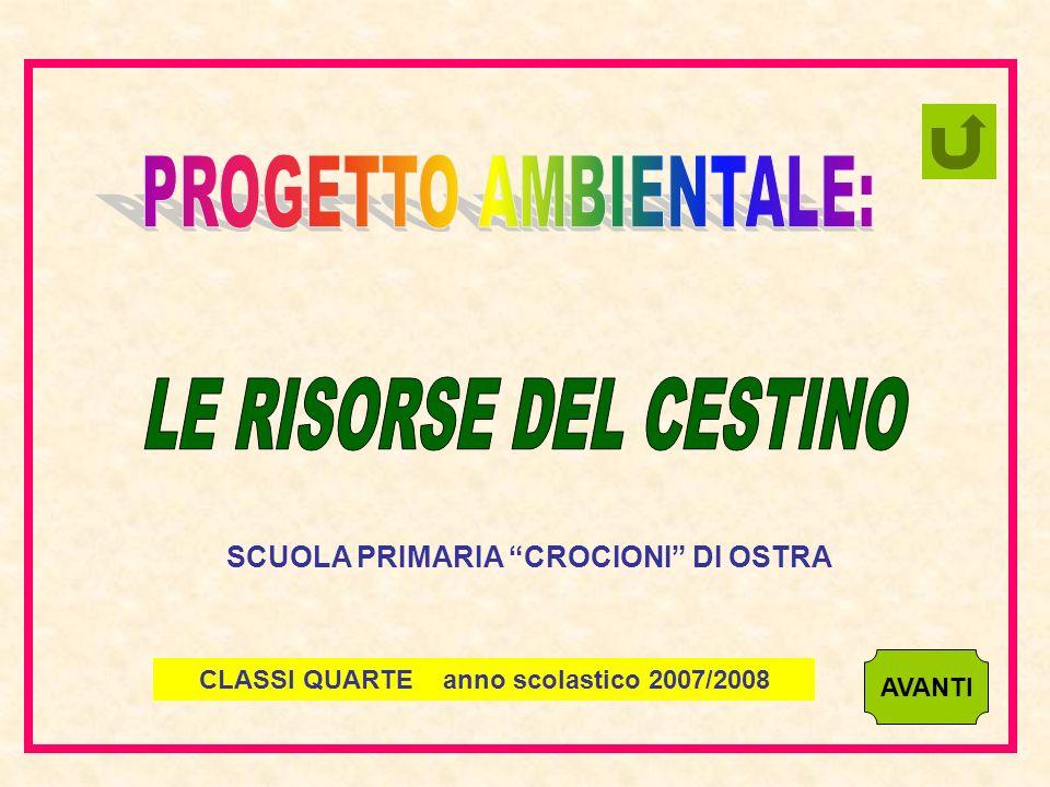 AVANTI CLASSI QUARTE anno scolastico 2007/2008 SCUOLA PRIMARIA CROCIONI DI OSTRA
