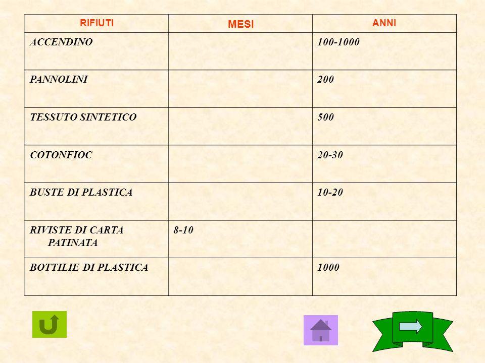 RIFIUTIMESIANNI GIORNALE4-8 FAZZOLETTI DI CARTA3-6 GOMMA DA MASTICARE5 CARTE PLASTICA(DI CRE.) oltre 1000 SIGARETTE CON FILTRO1-2 POLISTIROLOoltre 100