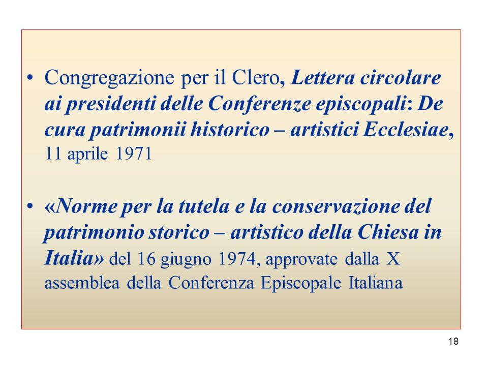 17 Concilio Ecumenico Vaticano II * Sacrosanctum concilium 4 dicembre 1963 nn. 111, 122-129, * Lumen gentium 21 novembre 1964 nn. 51, 67 * Gaudium et