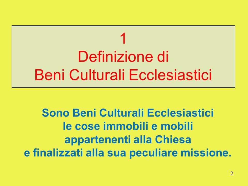 1 BENI CULTURALI ECCLESIASTICI Un patrimonio di fede della Chiesa universale A cura dellUfficio per lArte Sacra e i Beni Culturali della Diocesi di Br