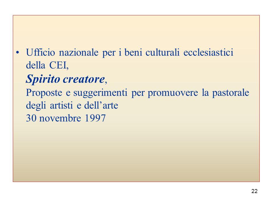 21 Commissione episcopale per la liturgia, La progettazione di nuove chiese Nota pastorale 18 febbraio 1993 Commissione episcopale per la liturgia, La