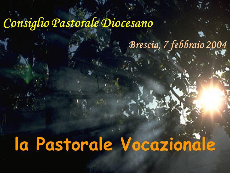 Consiglio Pastorale Diocesano Brescia, 7 febbraio 2004 la Pastorale Vocazionale