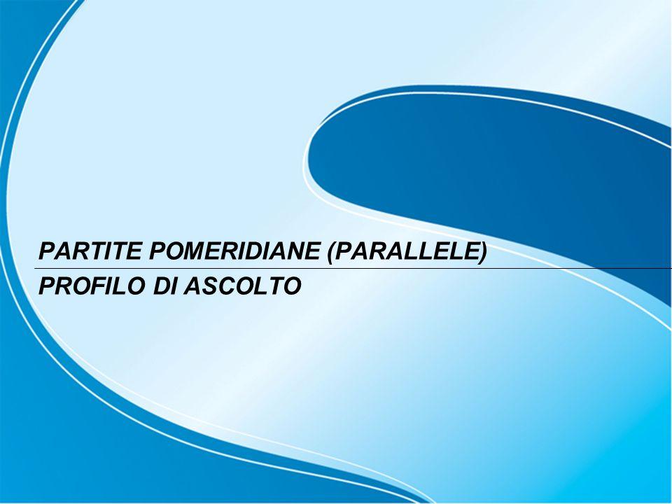 PARTITE POMERIDIANE (PARALLELE) PROFILO DI ASCOLTO