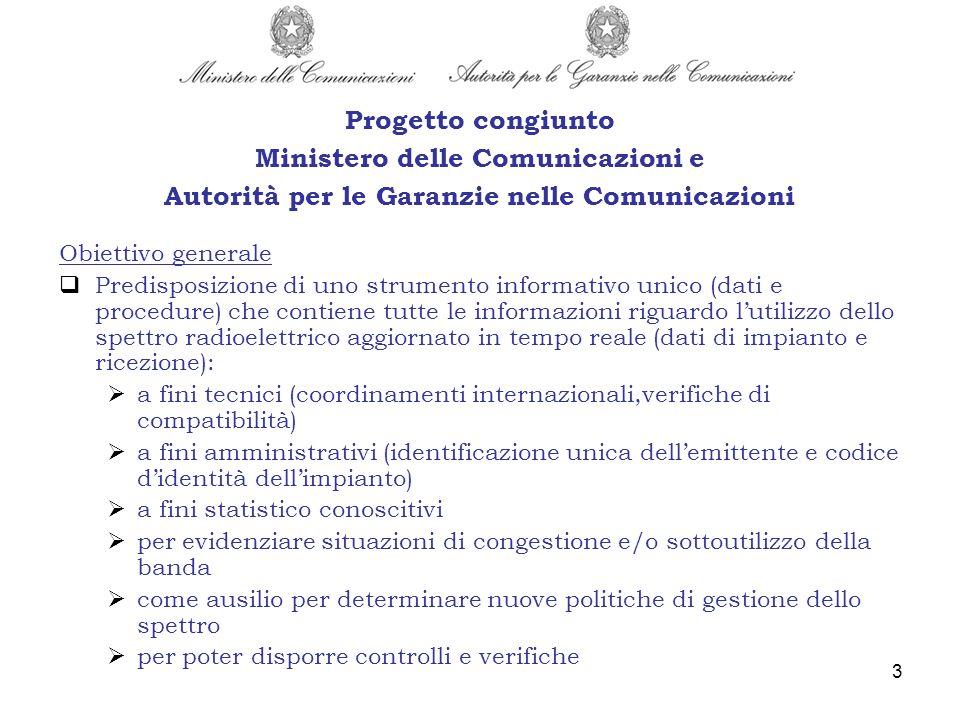 3 Obiettivo generale Predisposizione di uno strumento informativo unico (dati e procedure) che contiene tutte le informazioni riguardo lutilizzo dello