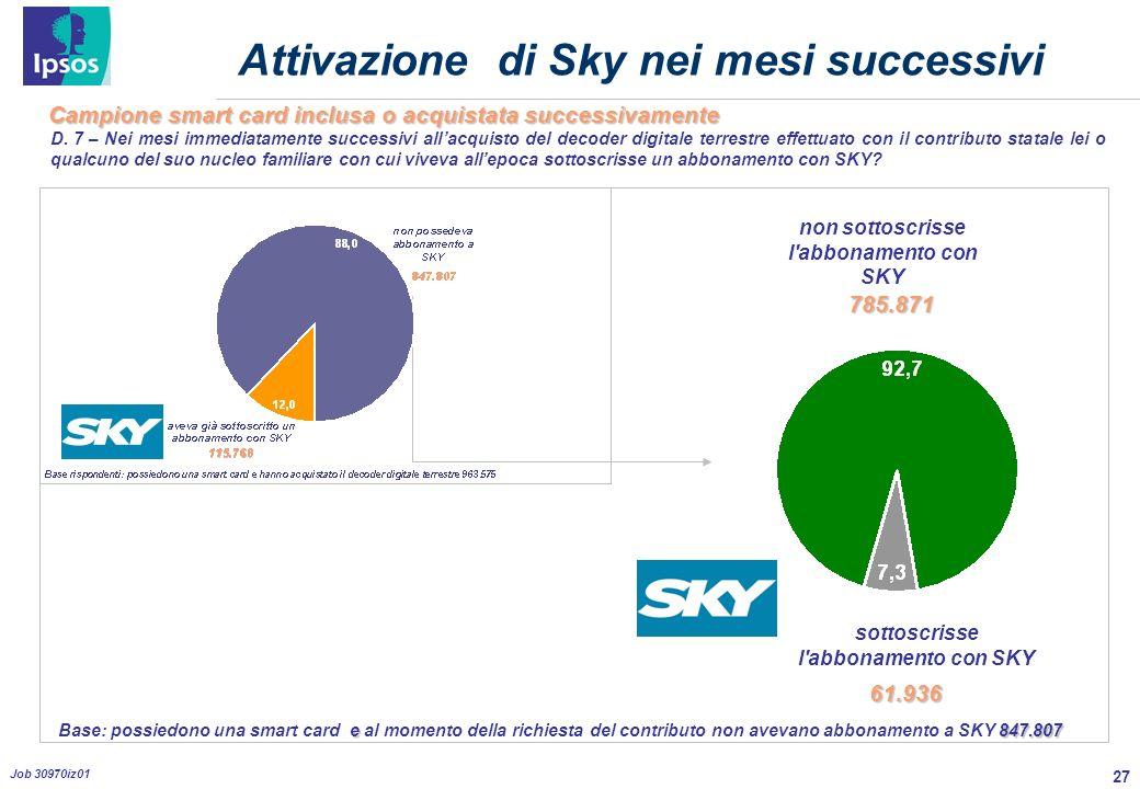 27 Job 30970iz01 Attivazione di Sky nei mesi successivi D.