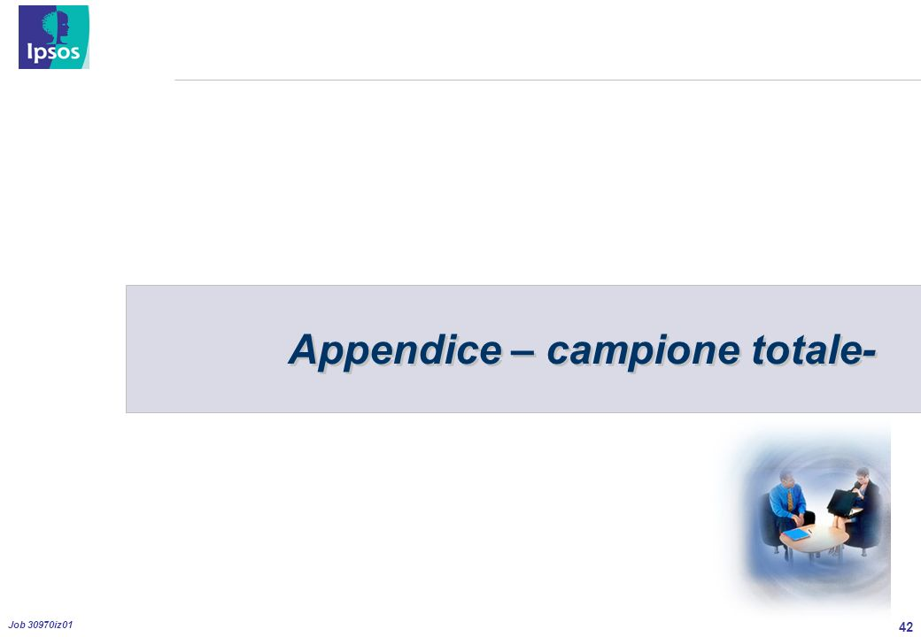 42 Job 30970iz01 Appendice – campione totale-
