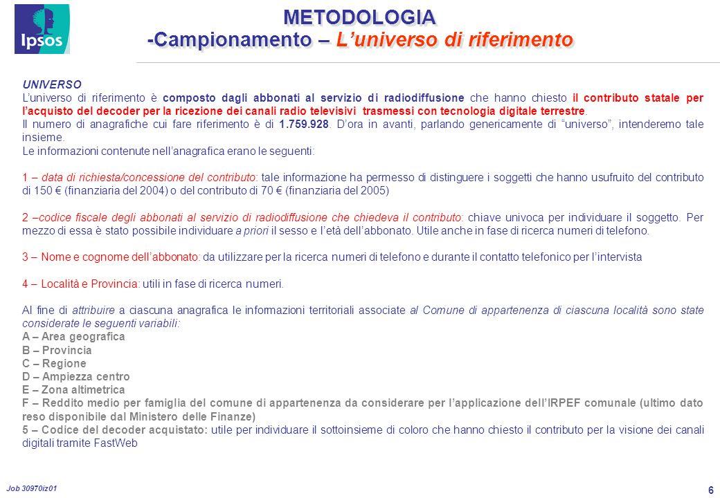 17 Job 30970iz01 PROFILO DEL CAMPIONE INTERVISTATO